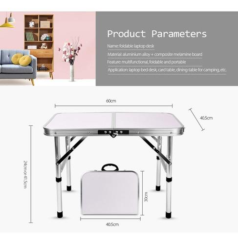 mesa campamento plegable aluminio mesa laptop cama escritori
