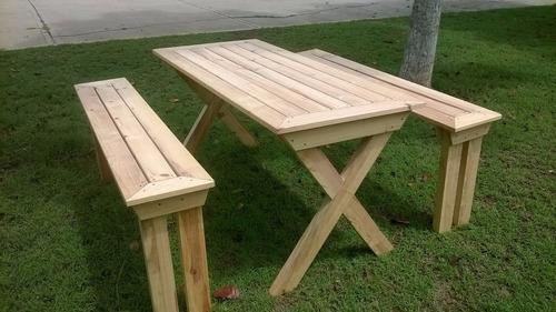mesa campestre marsella estilo picnic modelo exclusivo