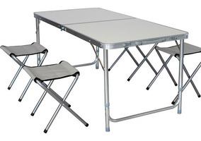 Aluminio Art Valija Mesa Csillas 1011 Camping Plegable 8Own0PkX