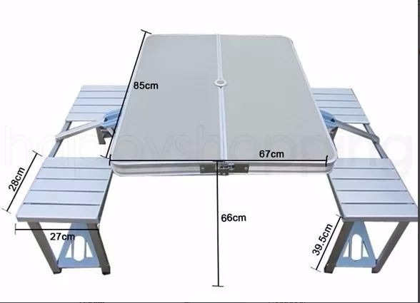 Mesa camping picnic aluminio plegable convertible for Mesa plegable aluminio