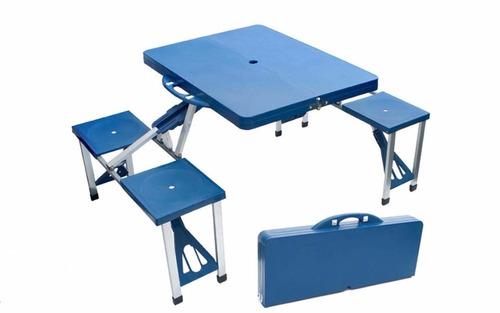 mesa camping portatil mesa picnic plegable 4 sillas oferta