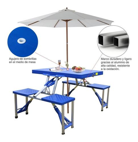 mesa camping silla