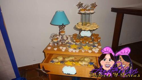 mesa candy bar shots dulces bombones pasapalos decoracion