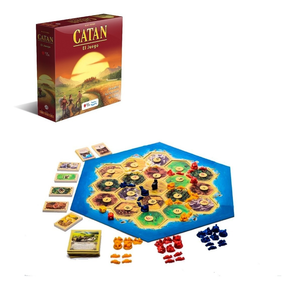 32389f8bc139 Catan Juego Mesa Top Toys Colonos De Catan Estrategia Cartas ...