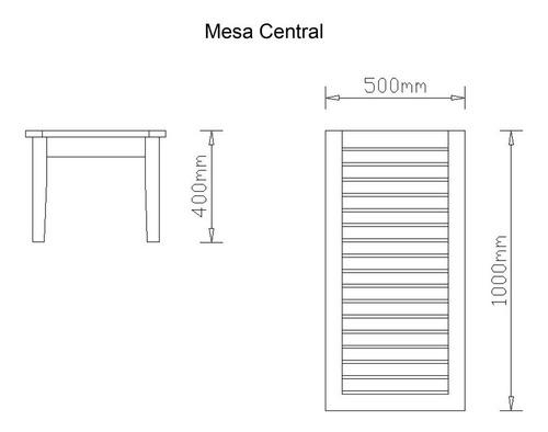 mesa central de madeira-frete grátis