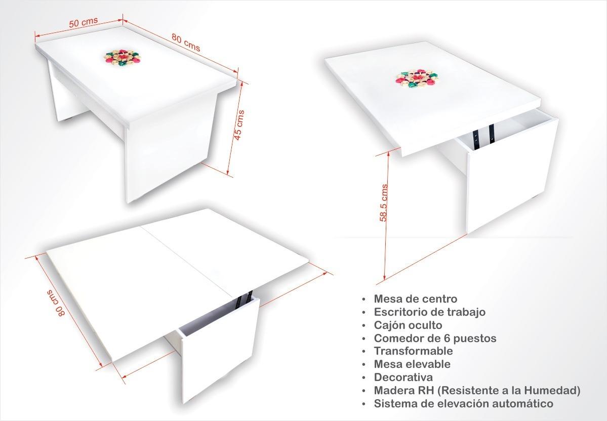 Mesa Centro Convertible A Comedor - $ 460.000 en Mercado Libre
