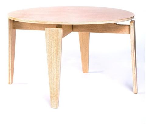 mesa centro flatty madera natural - asimétrika