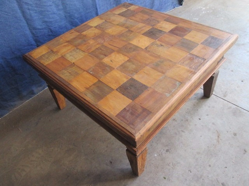 mesa centro madeira