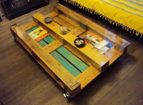 mesa centro madera mes