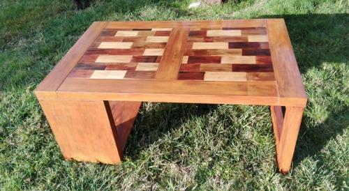 mesa centro madera nativa maciza