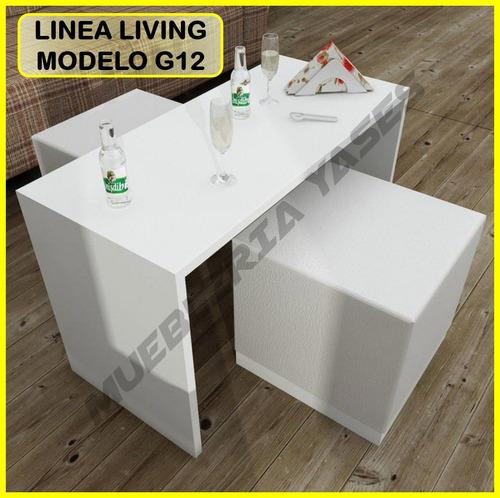 mesa centro modern juego mueble sala comedor sofa recibo g12