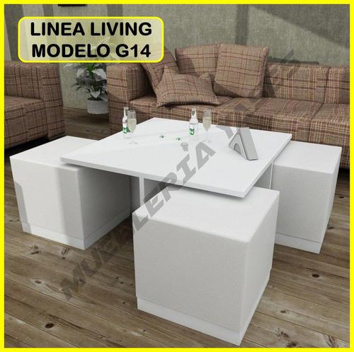 mesa centro modern juego mueble sala comedor sofa recibo g14