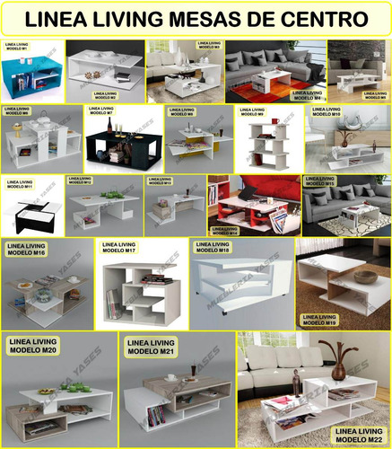 mesa centro modern juego mueble sala comedor sofa recibo p10