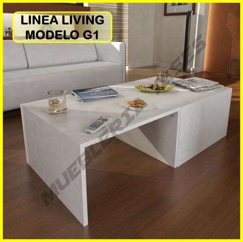mesa centro moderna juego mueble sala comedor sofa recibo g1