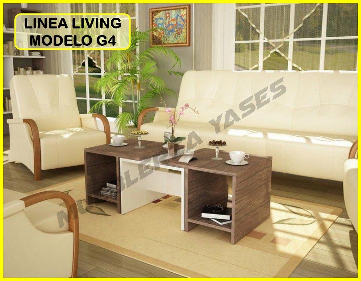 Mesa Centro Moderna Juego Mueble Sala Comedor Sofa Recibo G4 - Bs ...