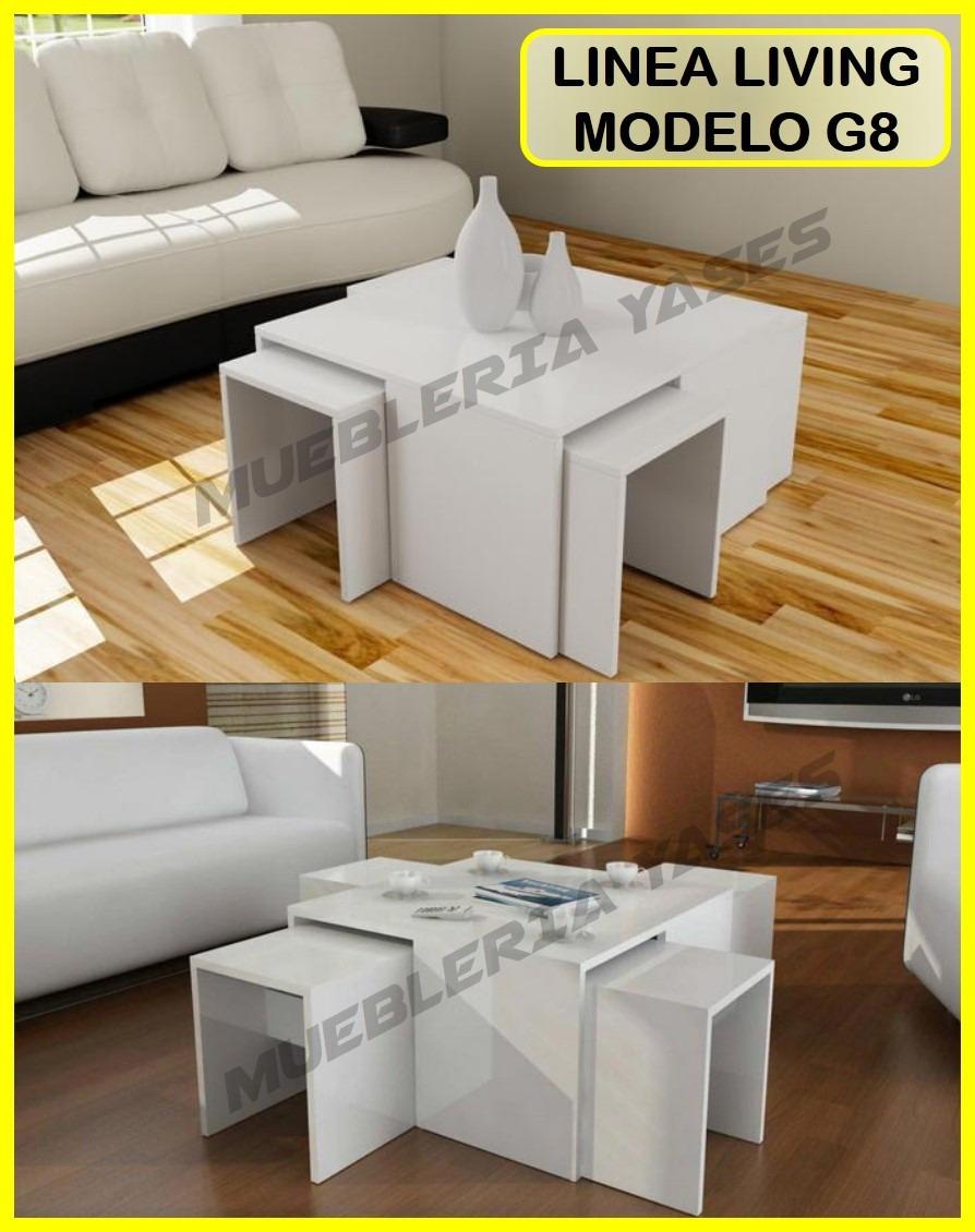 Mesa Centro Moderna Juego Mueble Sala Comedor Sofa Recibo G8 - Bs ...