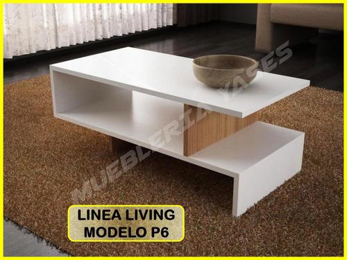 mesa centro moderna juego mueble sala comedor sofa recibo p6