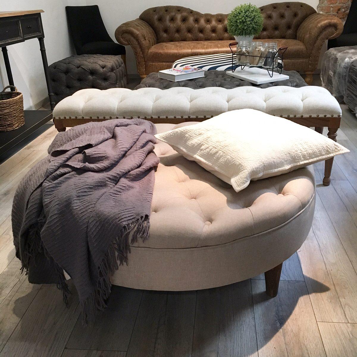 Único Mesa De Centro De Muebles Otomana Foto - Muebles Para Ideas de ...