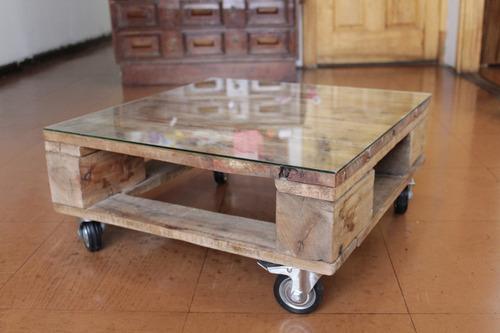 mesa centro mueble pallet