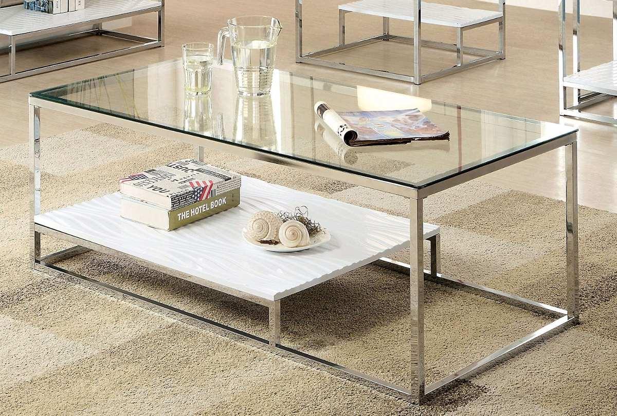 Mesa de centro para sala estilo contempor neo de cristal - Mesas de centro de cristal baratas ...