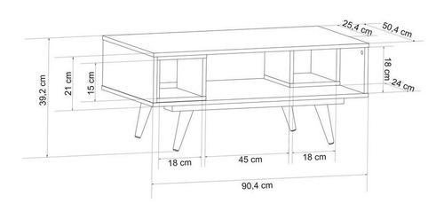 mesa centro retrô preto