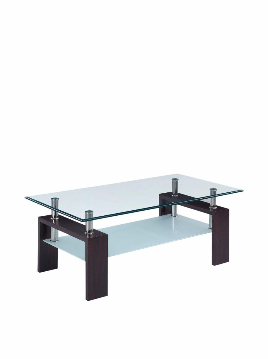 Juego mesa de centro cristal contemporanea laterales for Mesa de centro plegable