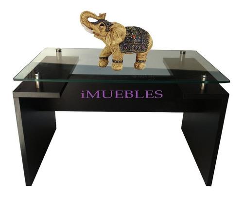 mesa centro sala, elegante. minimalista vidrio 8mm. nueva.