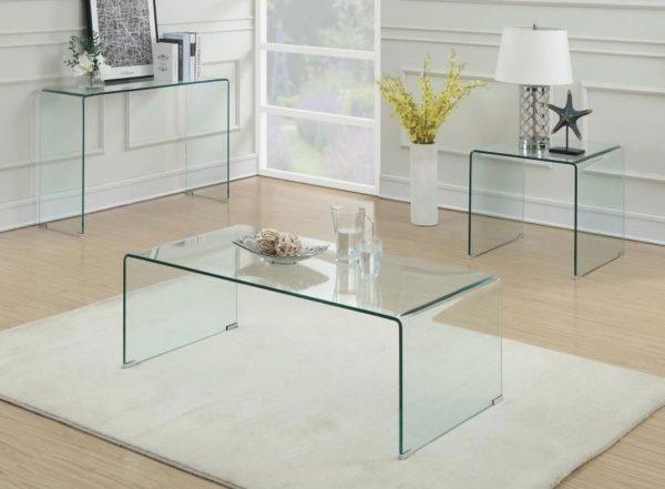 Mesa centro vidrio templado curvo dise o chinatraders - Mesas de vidrio templado ...