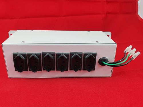 mesa chaveadora 6 canais tomadas - interruptor led - branca