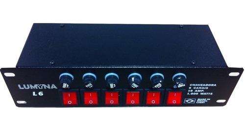 mesa chaveadora indicador luminoso e 6.000 watts potencia