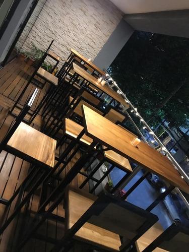 mesa chica alta + 4-5 banquetas alquiler