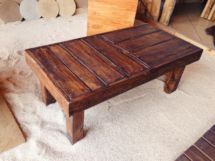 Mesa chica para centro de mesa de madera reciclada - Mesa de centro de madera ...