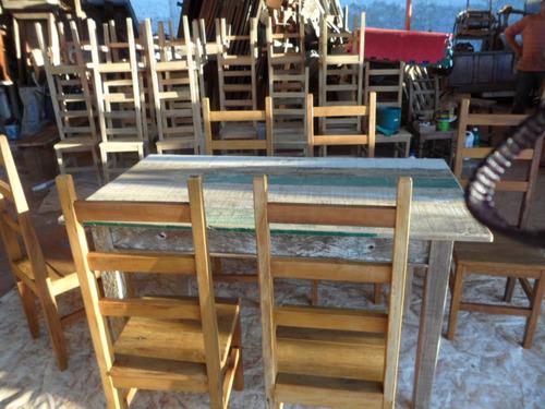 mesa churrasqueira -madeira demolição - peroba - 1,50 x 0,82