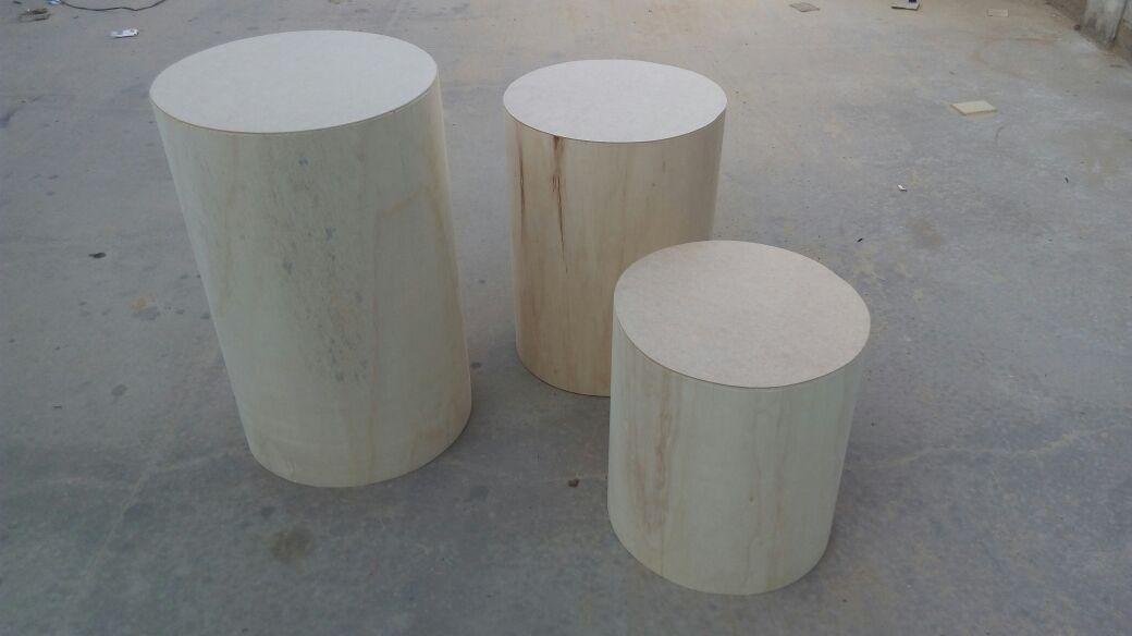 2b06fbb52 mesa cilindro trio mdf cru festa  decoração frete gratis. Carregando zoom.