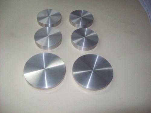 mesa circular de paraiso lustrado, incluye vidrio 1,20