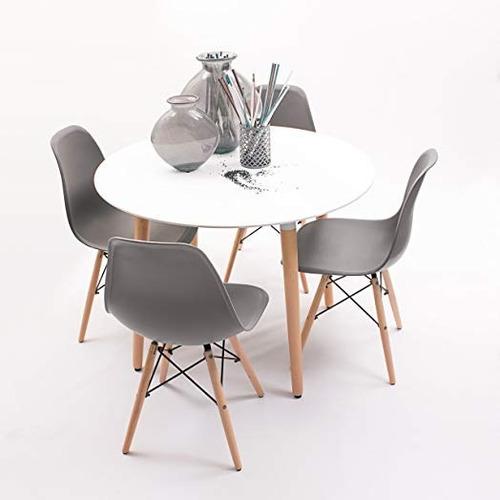 mesa circular eames redonda diametro 80 cm - negra o blanca