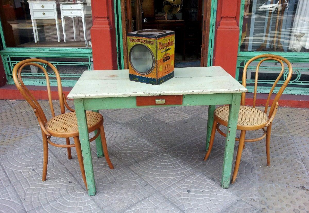 Mesa Cocina Campo Comedor Con Cajon Antigua - $ 2.800,00 en Mercado ...