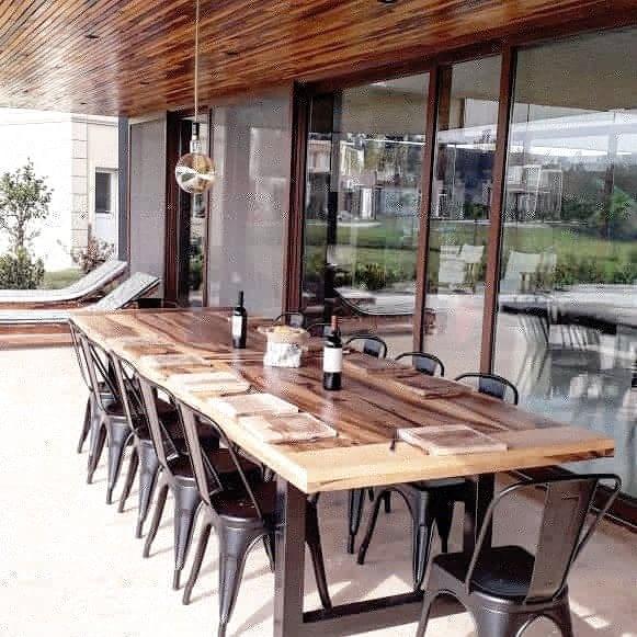 Mesa Cocina Comedor Industrial Hierro Y Madera - $ 19.800,00 en ...