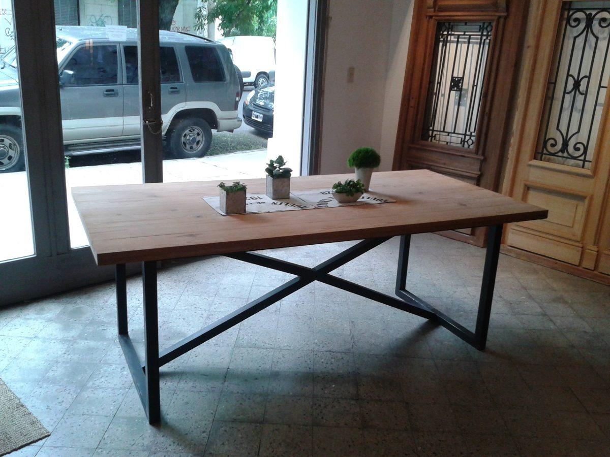 Mesa Cocina Comedor Industrial Living - $ 5.300,00 en Mercado Libre