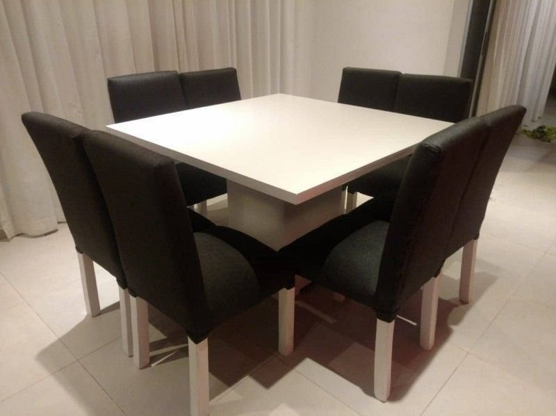 Mesa Cocina Comedor Laqueada Madera Paraíso Cuadrada. - $ 7.600,00 ...