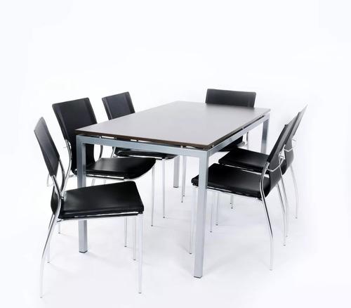 Mesa Cocina Comedor Madera Acero Colores Diseño Moderno - $ 18.250 ...