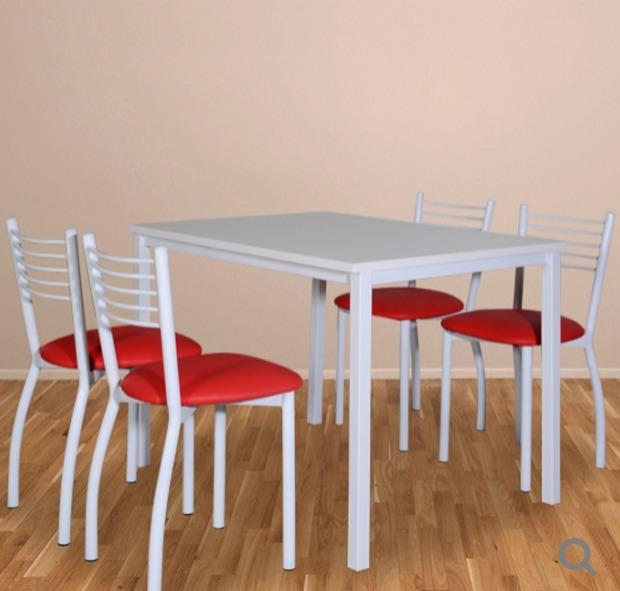 Mesa Cocina Comedor Melamina 25mm-140 X 82 Color Blanco - $ 3.999,00 ...