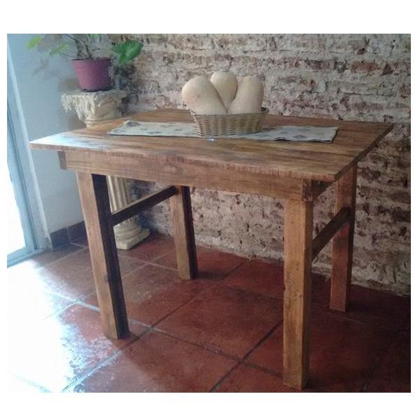 Mesa Cocina Comedor Rustica Madera Recuperada Estilo Campo - $ 2.500 ...