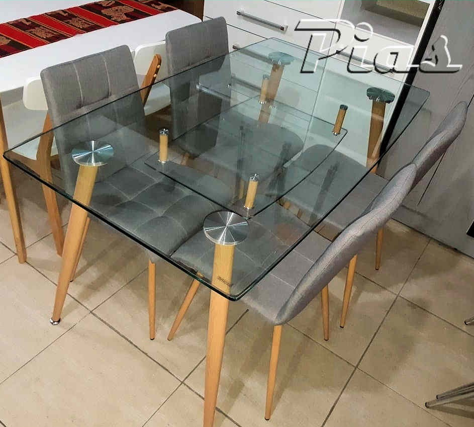 Mesa Cocina Comedor Vidrio Diseño Nórdico 140 X 80 Cm! Tida ...