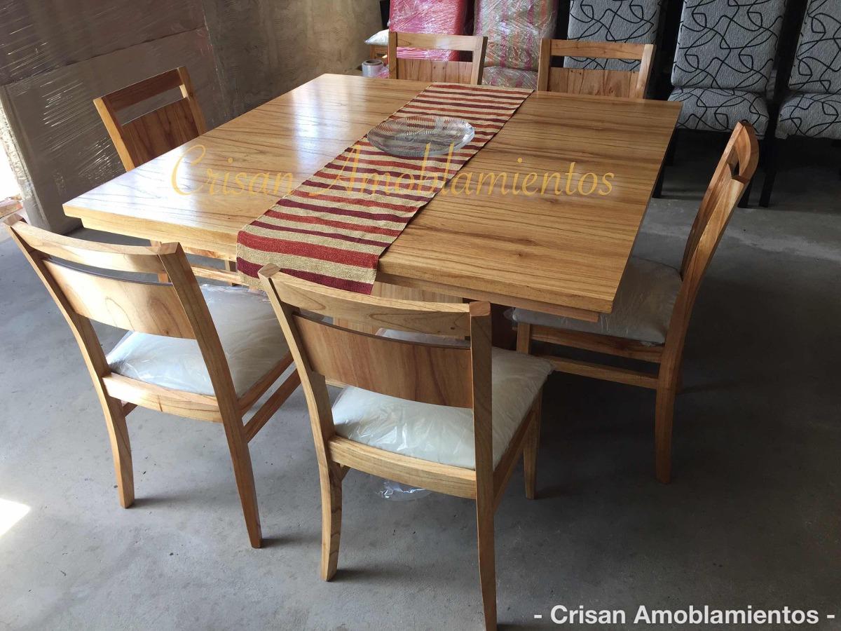 Mesa Cocina/comedor Cuadrada1,40+6 Sillas Madera Paraíso, - $ 27.500 ...