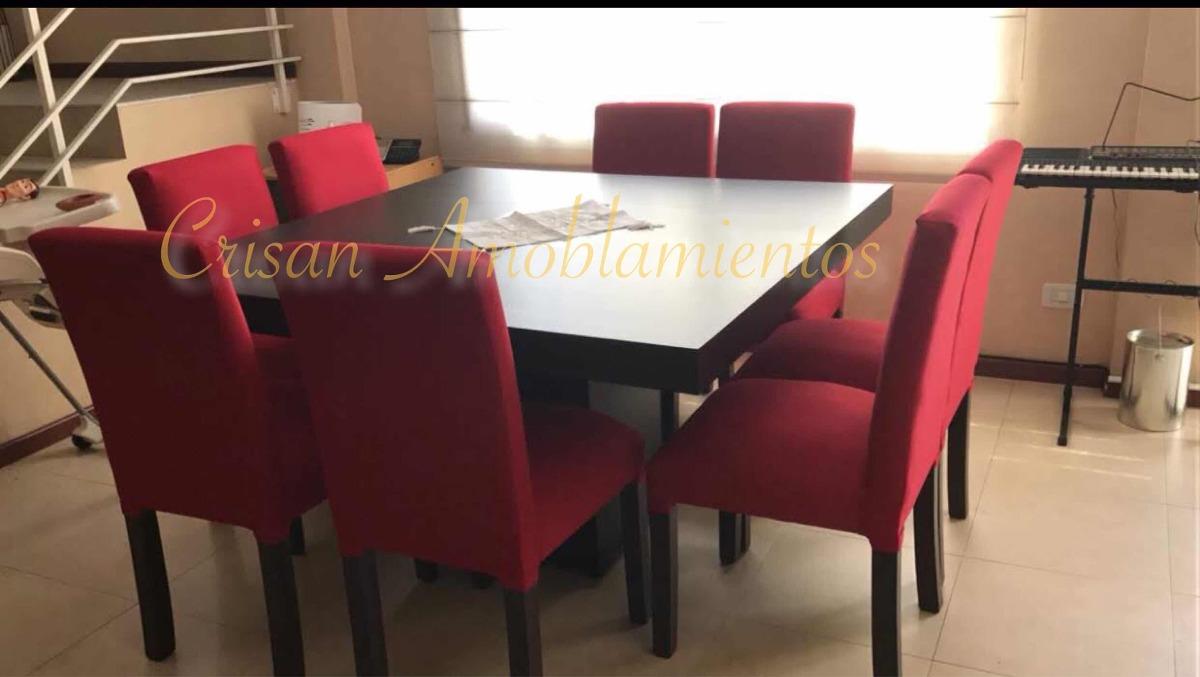 Mesa Cocina/comedor Cuadrada1,40+8 Sillas Vestidas ,oferta ...