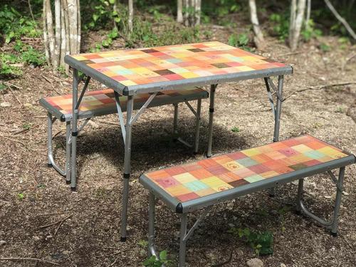 mesa coleman de picnic y viaje para 4 person - superportátil