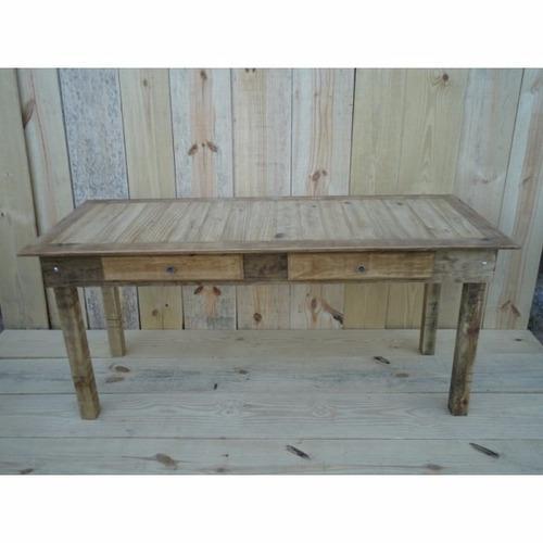 mesa com 2 gavetas casa e festa  - puxador de brinde