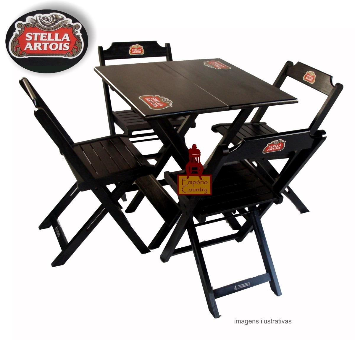 Armário Para Cozinha Em Inglês ~ Mesa Bar 70×70 Com Logo, C 4 Cadeiras Dobráveis Logomarcada R$ 445,70 em Mercado Livre