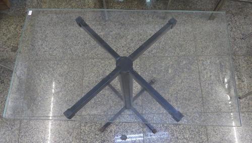 mesa com tampo de vidro / blindex